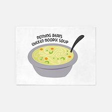 Chicken Noodles Soup 5'x7'Area Rug