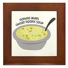 Chicken Noodles Soup Framed Tile