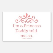 Pink Daddy's Princess Rectangle Decal