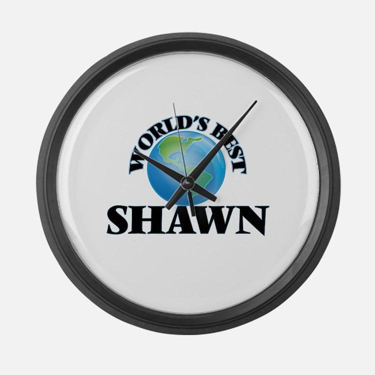 World's Best Shawn Large Wall Clock