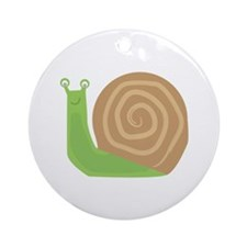 Slow As Snail Ornament (Round)