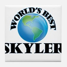 World's Best Skyler Tile Coaster