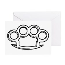 Brass Knuckles Greeting Cards (Pk of 10)
