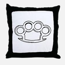 Brass Knuckles Throw Pillow