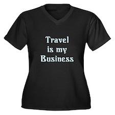 Travel Agent Women's Plus Size V-Neck Dark T-Shirt