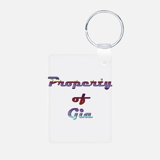 Property Of Gia Female Keychains