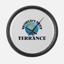 World's Best Terrance Large Wall Clock