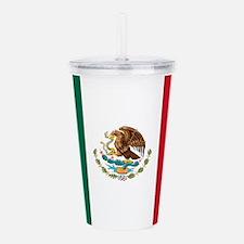 Mexico Flag Acrylic Double-wall Tumbler