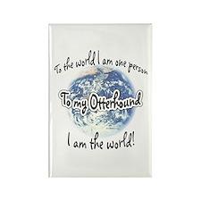Otterhound World2 Rectangle Magnet