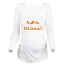 Pumpkin Smuggler Long Sleeve Maternity T-Shirt