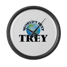World's Best Trey Large Wall Clock
