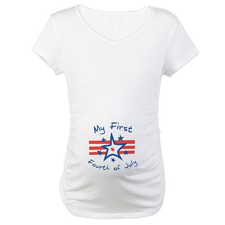 My First Fourth Maternity T-Shirt Tummy