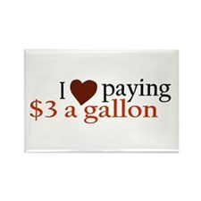 I Love Gas Prices Rectangle Magnet