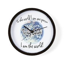 Saluki World2 Wall Clock
