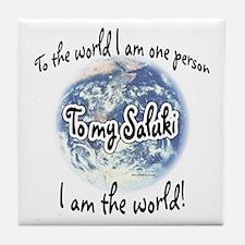 Saluki World2 Tile Coaster