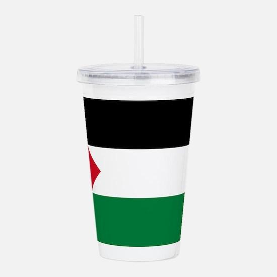 palestine-flag4000w.pn Acrylic Double-wall Tumbler