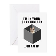 Unique Schroedinger's cat Greeting Card