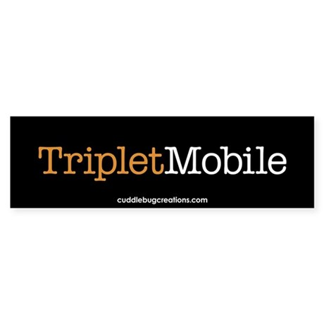 Triplet Mobile (O)- Bumper Sticker