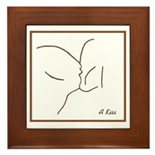 A Kiss Framed Tile