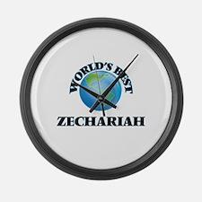 World's Best Zechariah Large Wall Clock