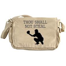 Thou Shall Not Steal Messenger Bag