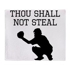 Thou Shall Not Steal Throw Blanket
