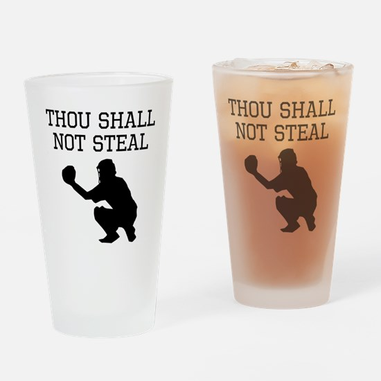 Thou Shall Not Steal Drinking Glass