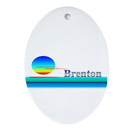 Brenton Oval Ornament