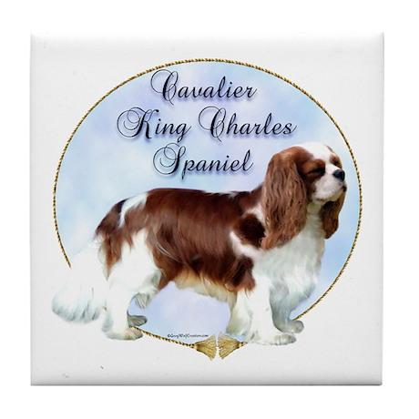 Cavalier Portrait Tile Coaster