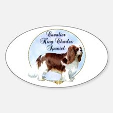 Cavalier Portrait Oval Decal