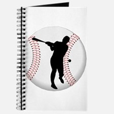 Baseball Batter Silhouette Journal