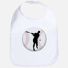 Baseball Batter Silhouette Bib
