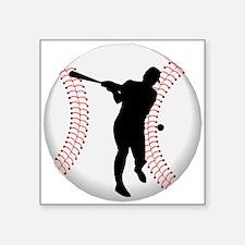 Baseball Batter Silhouette Sticker