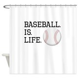 Baseball is life Shower Curtains