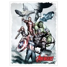 Avengers Sketch Wall Art Poster
