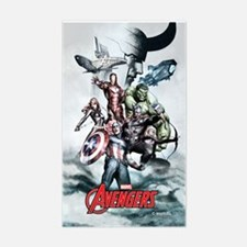 Avengers Sketch Sticker (Rectangle)