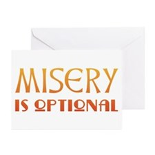Misery Is Optional Recovery Greeting Cards (Packag