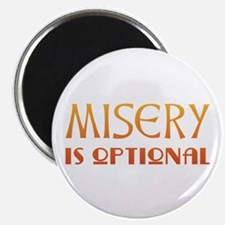"Misery Is Optional Recovery 2.25"" Magnet (10 pack)"
