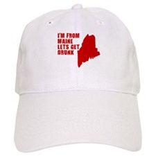 FUNNY MAINE STATE HUMOR LETS Baseball Cap