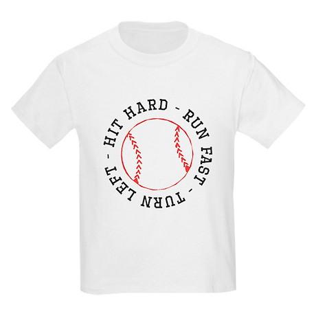 Hit hard run fast turn left kids light t shirt hit hard for Quick turnaround t shirts