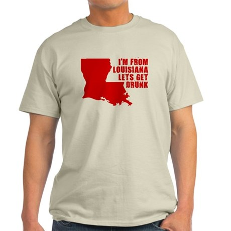 FUNNY LOUISIANA T-SHIRT STATE Light T-Shirt