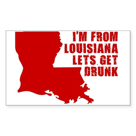 FUNNY LOUISIANA T-SHIRT STATE Sticker (Rectangular