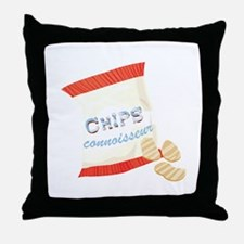 Chips Connisseur Throw Pillow