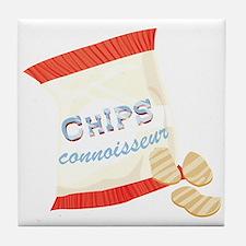 Chips Connisseur Tile Coaster