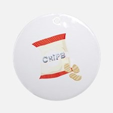 Chips Bag Ornament (Round)