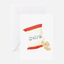Chips Bag Greeting Cards