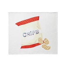 Chips Bag Throw Blanket