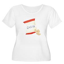 Chips Bag Plus Size T-Shirt
