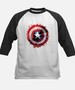 Cap Shield Spattered Kids Baseball Jersey