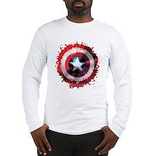Cap Shield Spattered Long Sleeve T-Shirt